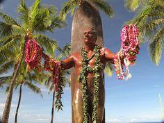 """Duke Paoa Kahinu Mokoe Hulikohola Kahanamoku was born on the 24th August, 1890, in Honolulu, Hawaii. Nicknamed """"The Duke"""" and """"The Big Kahuna"""", is considered to be the father of modern surfing."""