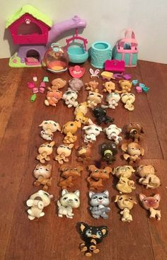 Lot of 33 Littlest Pet Shop LPS Cats Dogs 12 Cats 21 Dogs Accessories | eBay