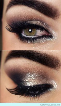 10 Glitter eye make up ideas for a party