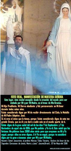 Mensajes De Dios Al Mundo: 07 05 16 FUISTE DIGNO DE ESTA SEÑAL QUE LOS FARISE...
