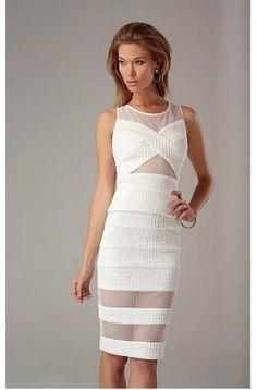Alberto Makali Mesh Illusion 2pc Dress