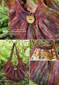 "Crochet purse ""The Fat Bag"". I LOVE this pattern for a bag. I just followed the chart and added stitches for the size I wanted. Great chart to follow!!"