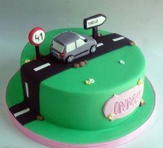 Tarta de cumpleaños para conductora novata https://www.facebook.com/Monsucre