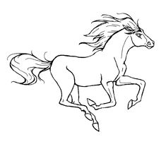 Dibujo para colorear de caballos (nº 3)