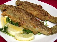 Pan Fried Trout from Food.com: This adoptee is the way we make trout on our backpacking trips, we take corneal and butter packets and hope we catch dinner. Just as easy to make at home, its a taste of the outdoors.