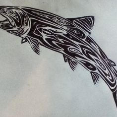 Gallery For gt Tribal Trout Tattoo Designs