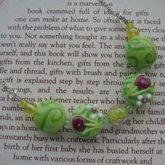 SALE Green Beaded Necklace by LaurasJewellery on Etsy, £4.00
