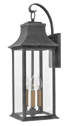 Hinkley Lighting 2934 Adair 2 Light High Outdoor Wall Sconce with Clear Glas Aged Zinc Outdoor Lighting Wall Sconces Front Door Lighting, Garage Lighting, Outdoor Wall Lighting, Lighting Ideas, Outdoor Farmhouse Lighting, Rustic Outdoor, Outdoor Ideas, Cottage Lighting, Driveway Lighting