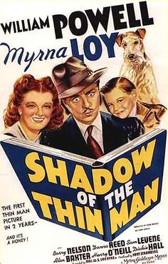Shadow Of The Thin Man, was the second Thin Man film featuring Sam Levene as Lieutenant Abrams. A total of six Thin Man Movies were made featuring Myrna Loy & William Powell from the now famous film series by Dashiell Hammett. LOVE the whole bunch! Thin Man Movies, Old Movies, Vintage Movies, Great Movies, 1940s Movies, Awesome Movies, Movies 2019, Old Movie Posters, Classic Movie Posters