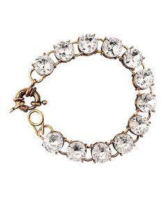 Another great find on #zulily! Clear Round-Cut Bracelet #zulilyfinds