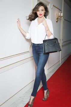 26 Genius Outfit Ideas to Steal From Street-Style Star Miranda Kerr – Celebrities Woman Miranda Kerr Outfits, Miranda Kerr Street Style, Star Fashion, Fashion Outfits, Womens Fashion, Fashion Trends, Look Jean, Models, Look Chic
