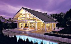 We like how the extended roof creates an overhang for the porch and on the side deck area.