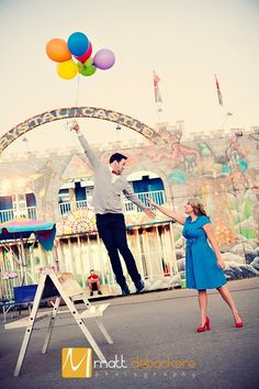 Our engagement pics, possibly. We had or first date at the State Fair..