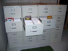 Comic Book File Cabinet | Each Drawer Holds The Equivalent Of Around 3 Short  Boxes