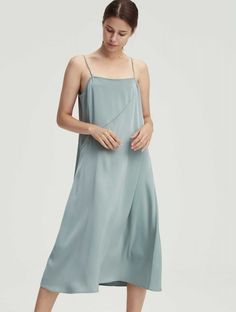 Seam Strap Slipdress Dress With Cardigan, I Dress, Loose Pants, Dress Collection, Lounge Wear, Cashmere, Gowns, Woman, Model