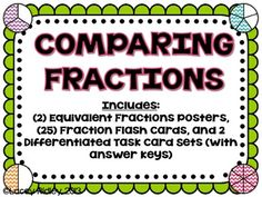 Differentiated Comparing Fractions Set: 3rd Grade Common Core