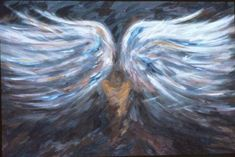 "angel wings painting | Recovery"" Oil (30"" x 40"") 1990 - This painting represents the ..."