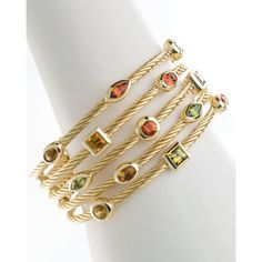 David Yurman Five-Row Tsavana Tourmaline Confetti Bracelet