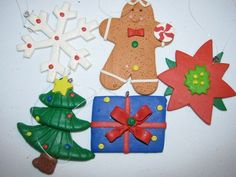 Hey, I found this really awesome Etsy listing at https://www.etsy.com/listing/115315302/5-femo-christmas-ornaments-christmas