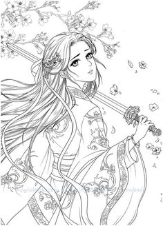 Instant Download DadaCat Chinese Portrait Coloring Page PDF!High quality images fit on A\45 paper. Over 200 printable coloring books available #chinese #gugeli #coloringbook #coloringpage #coloring #anime #mystica #aeppol #momogirl #koreacoloring #download #ebook #coloringpage #classic #dadacat Cute Coloring Pages, Adult Coloring Pages, Coloring Books, Anime Lineart, Fairy Drawings, Destress, Drawing Skills, Anime Fantasy, Printable Coloring