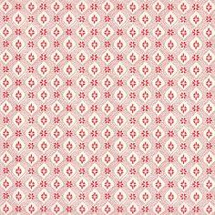 Red Geometric Floral Print Italian Paper ~ Tassotti