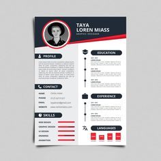 Cv / resume design with line icons Vector Cv Design Template Free, Cv Template, Brochure Template, Yearbook Pages, Yearbook Layouts, Yearbook Spreads, Creative Cv, Creative Resume Templates, Layout Cv