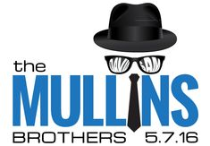 A Blues Brothers Bar Mitzvah logo for twin boys