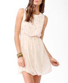 Bejeweled Blouson Dress #partyperfect