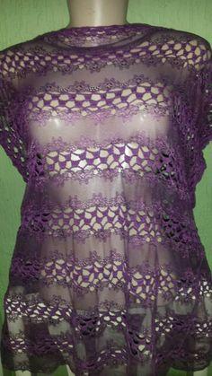 Blusa de renda e crochê  Aceito encomendas lnahorny@gmail.com  Www.cantinholuana.blogspot.com.br