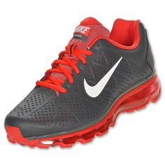 Nike Air Max+ 2011 Leather Running Shoes Mens | eBay black and red