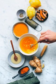 Every Morning: hot lemon water with ginger, cayenne, tumeric and honey #health #turmeric #ginger | Turmeric benefits - Herbology and Herbalism