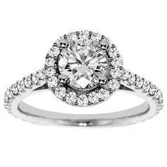 Halo White Diamond Ring -this is the ring I have in my wedding set and I love it