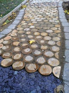 Sensory path with timber rounds, – natural playground ideas Outdoor Play Spaces, Outdoor Fun, Outdoor Lighting, Backyard Lighting, Outdoor Projects, Garden Projects, Sensory Garden, Natural Playground, Playground Ideas
