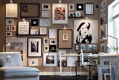 Wall of IKEA Art.