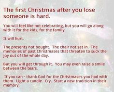 Christmas in heaven . Quotes About Strength In Hard Times, Hard Quotes, Loss Quotes, Funny Quotes, Loss Of Loved One, Losing A Loved One, Christmas In Heaven, First Christmas, Christmas Time