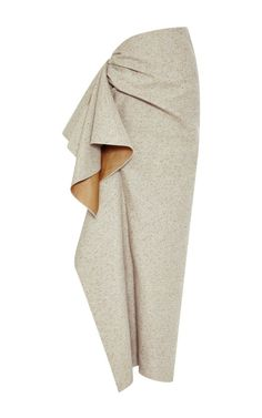Speckled Grey Side Ruffle Skirt by Rosie Assoulin - Moda Operandi
