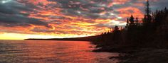 Lake Superior Sunset -Cascade River State Park