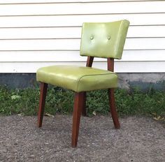 Hey, I found this really awesome Etsy listing at https://www.etsy.com/listing/199459970/vintage-1960s-side-chair-chartreuse
