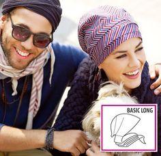 Turbante a Righe Bianche/Rosse/Blu - 82xx-195 Basic Long 8200-195