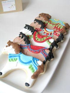 CAROUSEL Ride Carousel horse sugar cookies -