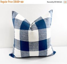 SALE PILLOW. Blue Pillow. Navy Blue  and by TwistedBobbinDesigns