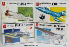 Vintage 1/48 AMT Model Plane Kit Lot P-36A F4U-1 F9F SR-9 SEALED NEW