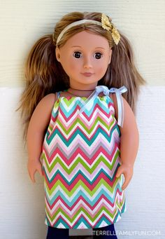 DIY No Sew Dresses for American Girl Dolls
