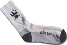 "You're not cool until you're wearing Drum Bum socks! From the leader in drummer gifts and apparel, these awesome socks feature a drumset player rockin' away on the kit and the words ""drum bum"" on the bottom with a pair of drumsticks going across it."