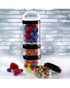 STACKABLE STORAGE CONTAINERS SET OF 4, STACK THE PERFECT SNACK! SMART AND  SIMPLE SNACKING  (COMING SOON)
