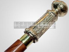 Hand Crafted Brass Handle Waking stick walking cane