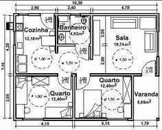 Cabe uma cadeira de rodas no apartamento pequeno? Wheelchair Dimensions, 3d House Plans, Construction Design, Architecture Plan, House Layouts, Autocad, Future House, Floor Plans, How To Plan