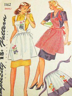 Vintage Apron Pattern  Simplicity 1162  Vtg by ThePatternSource, $40.00