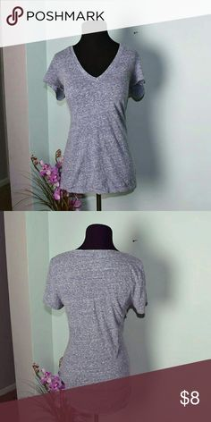 American Eagle Lavender & Grey Speckled V Neck So beautiful. Size Large. In excellent condition. I'm not sure if you can tell but the top had a beautiful lavender infusion in the color that really makes it stand out! American Eagle Outfitters Tops Tees - Short Sleeve