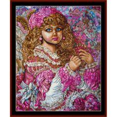 Angel of the Christmas Tree - Yumi Sugai cross stitch pattern by Cross Stitch Collectibles | Crafting | Cross-Stitch | Wall Hangings